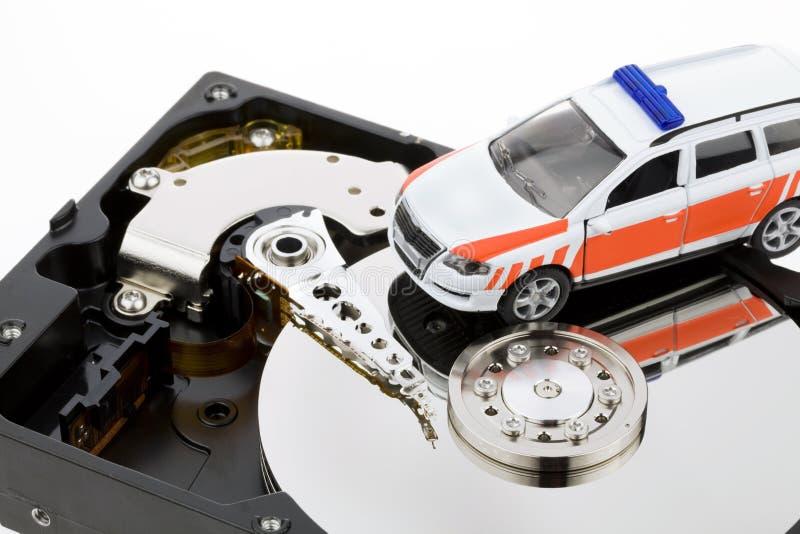 Disque dur de reprise de données de l'ordinateur image libre de droits