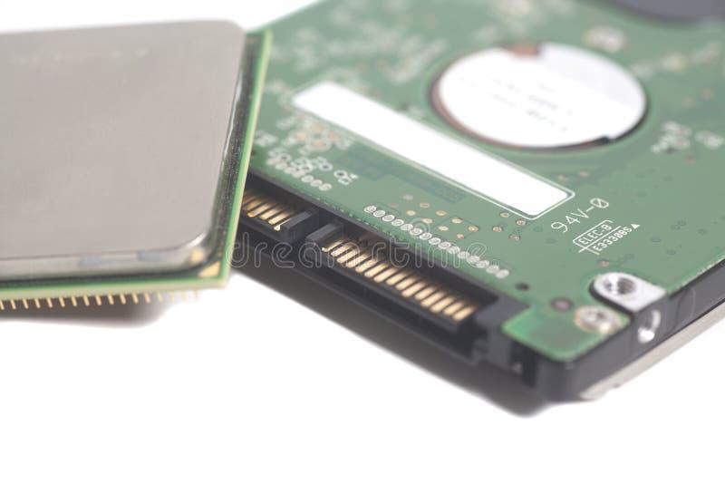Disque dur Dri d'ordinateur d'extrémité de puce d'unité centrale de traitement d'unité centrale de traitement photos libres de droits