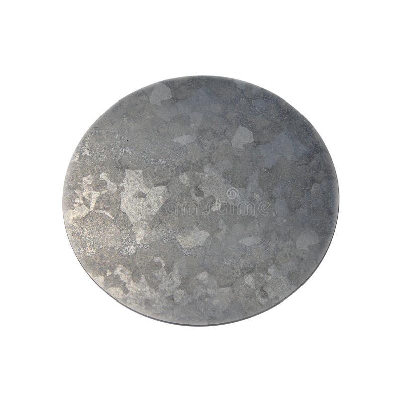 Disque en métal d'isolement sur le blanc images stock