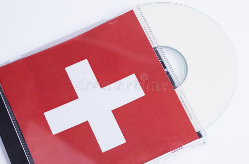 Disque et boîte CD photo stock