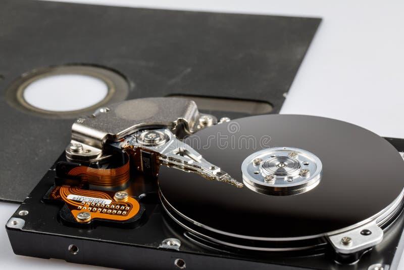 Disque et disquette d'unité de disque dur image libre de droits