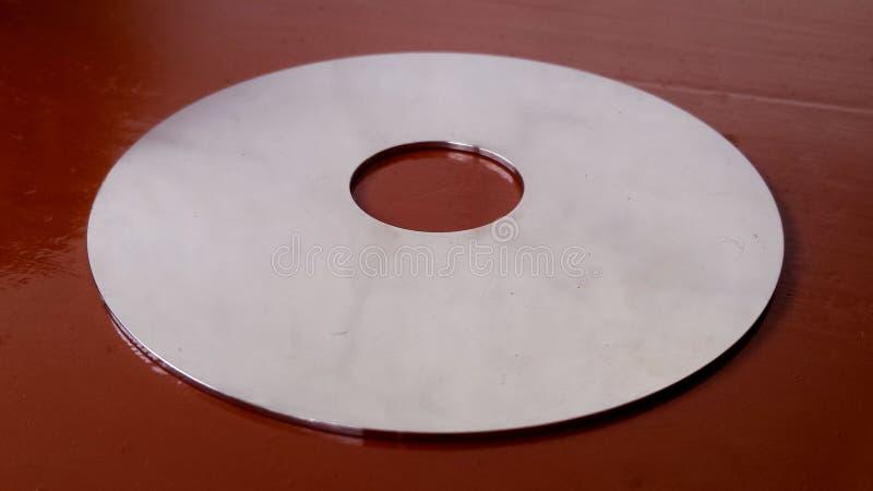 Disque interne à l'intérieur d'un lecteur de disque dur photographie stock libre de droits
