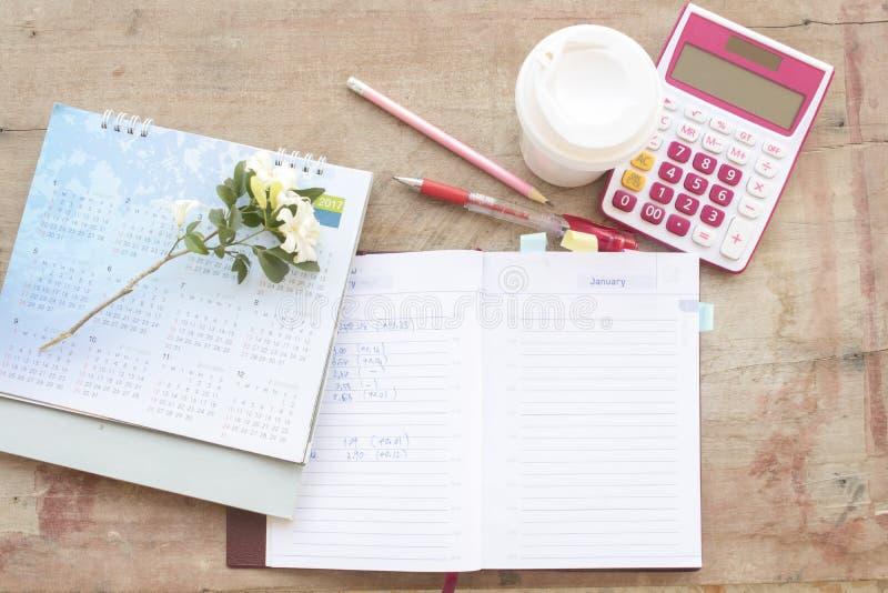 disque mensuel de planificateur de carnet pour financier photographie stock libre de droits