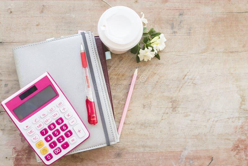 disque mensuel de planificateur de carnet pour financier images stock