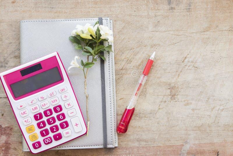 disque mensuel de planificateur de carnet pour financier photo stock