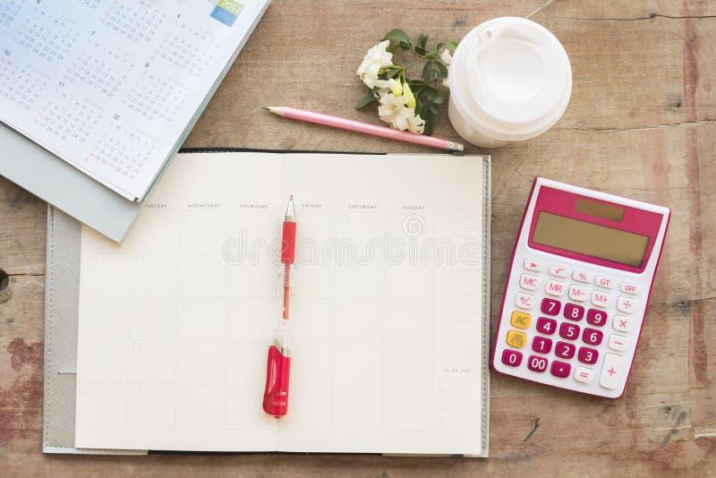 disque mensuel de planificateur de carnet pour financier photographie stock