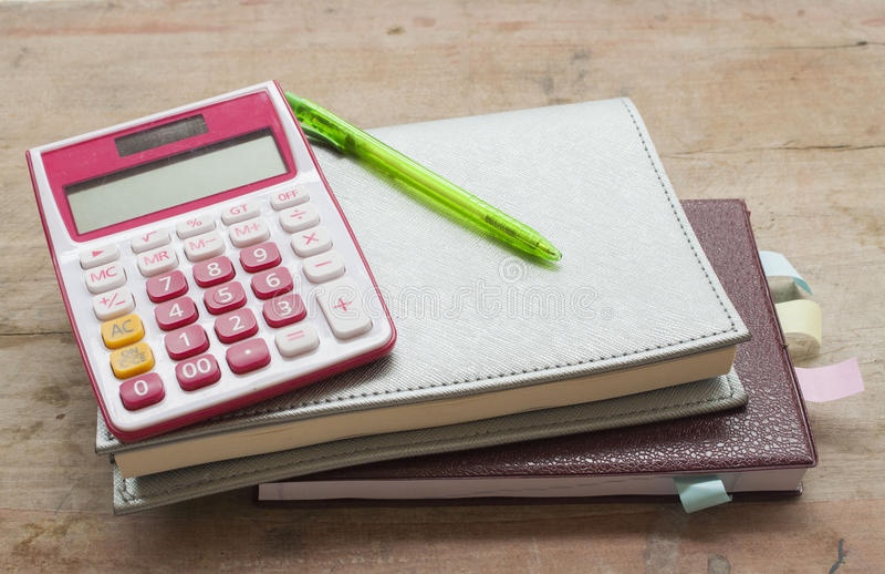 disque mensuel de planificateur de carnet pour financier images libres de droits