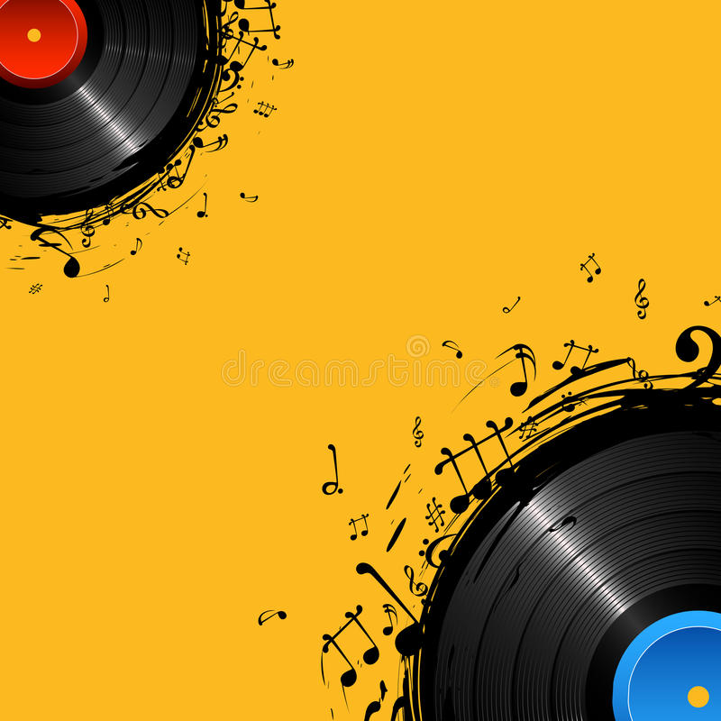 Disque musical illustration stock