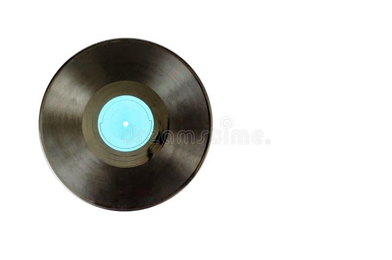 Disque noir d'album de lp d'enregistrement de vinyle image libre de droits