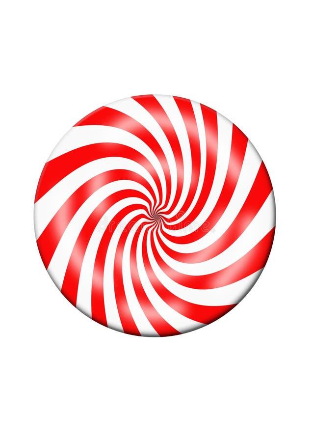 Disque rouge et blanc de sucrerie illustration libre de droits