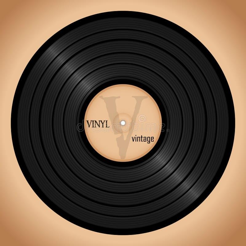 Disque vinyle, rétro affiche de musique de fond illustration libre de droits