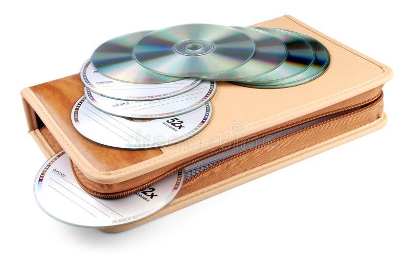 Disques compacts-ROM avec la poche photo stock