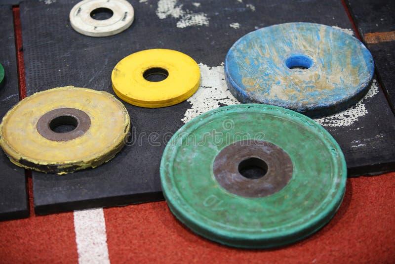 Disques de barbell photo stock