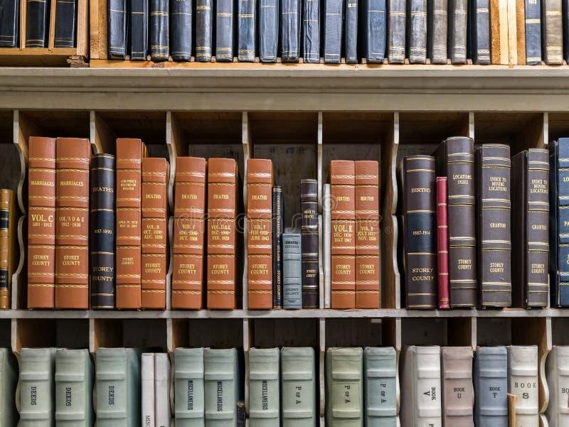 Disques historiques, le comté de Storey, Nevada photographie stock libre de droits