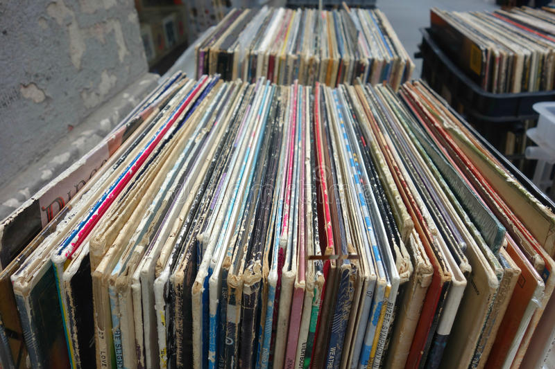 Disques vinyle image libre de droits