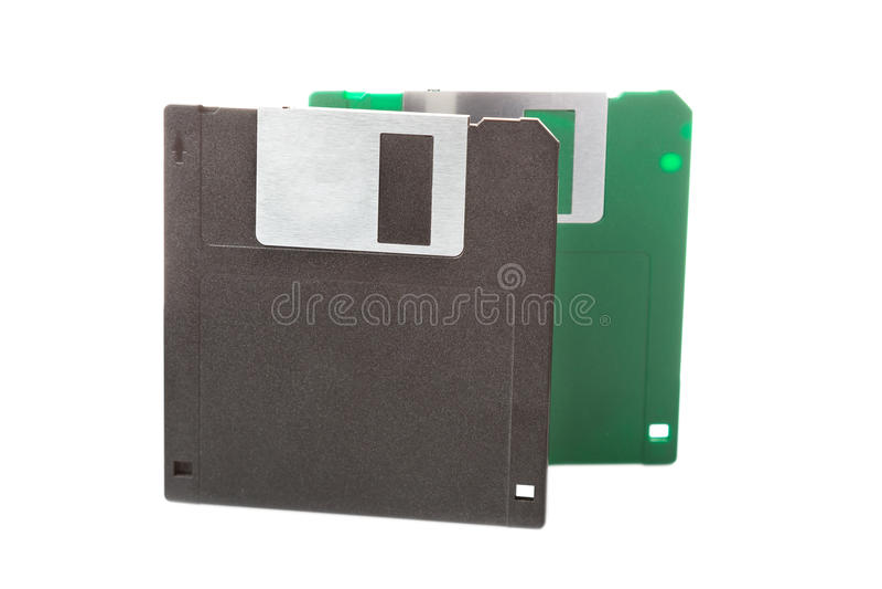 Disquetes do computador isoladas no fundo branco imagens de stock royalty free