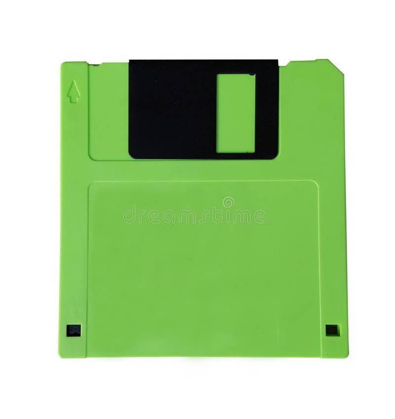 Disquette verte d'isolement photos stock