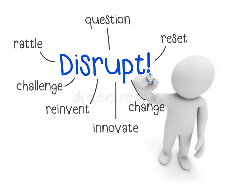 disrupt ilustração stock