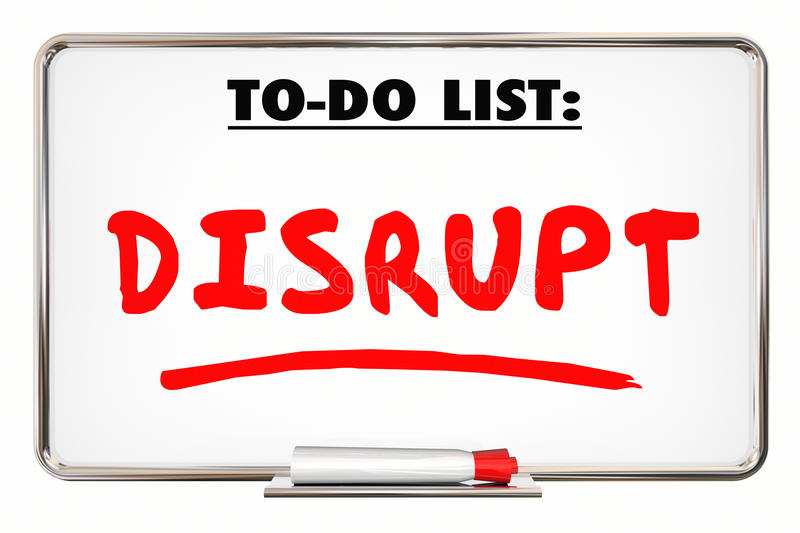 Disrupt Change New Idea Innovation Writing Word royalty free illustration