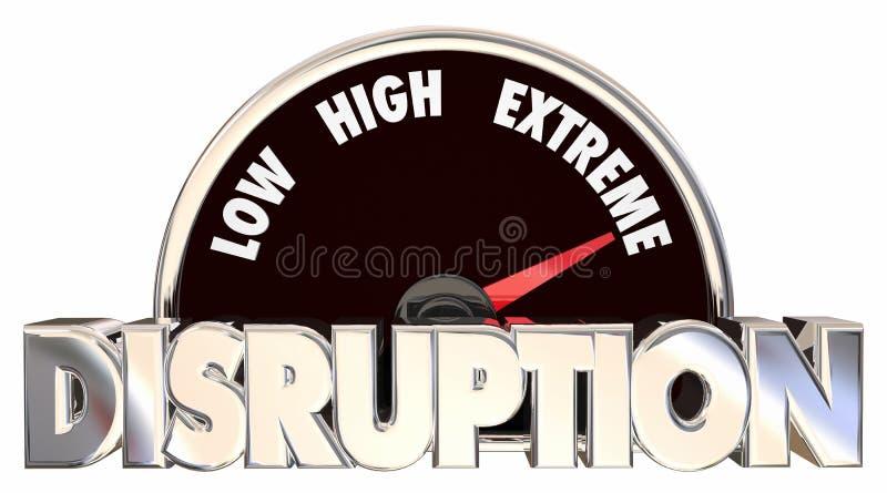 Disruption Change Adapting New Product Evolution Meter royalty free illustration