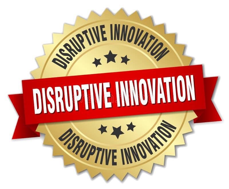 disruptive innovation badge royalty free illustration