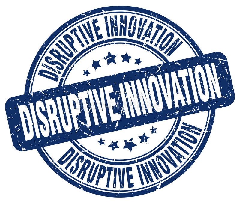 Disruptive innovation blue stamp vector illustration