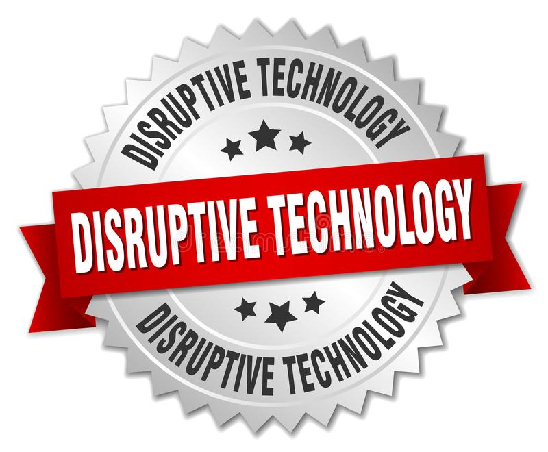 disruptive technology badge royalty free illustration