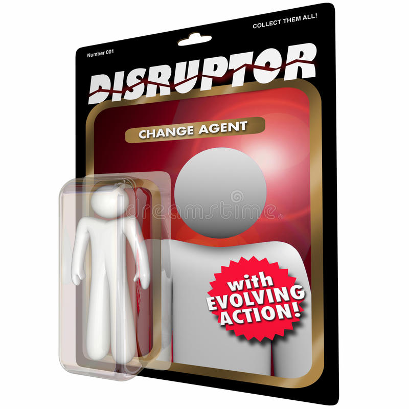 Disruptor Change Agent Action Figure Disruption. 3d Illustration vector illustration