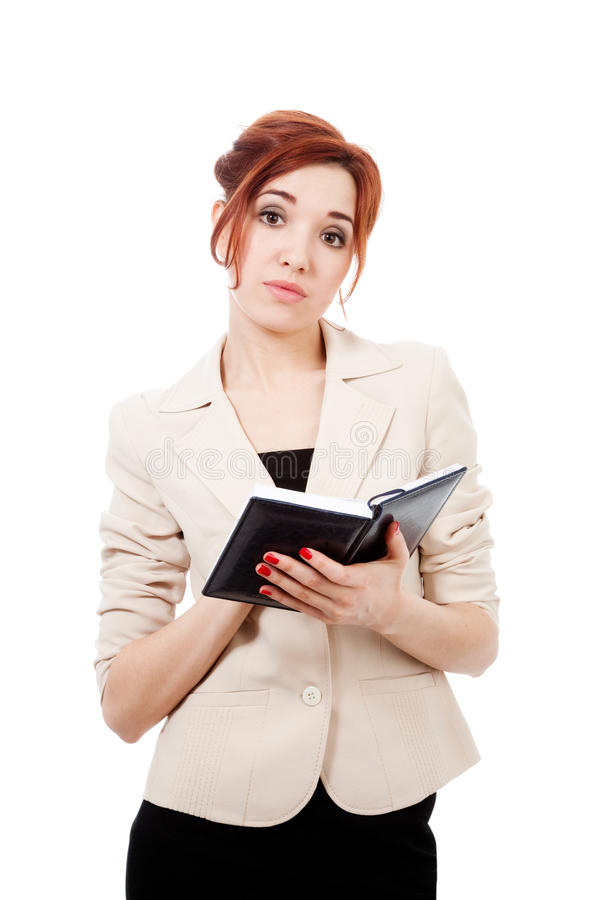 Dissapointed  Girl With Diary Royalty Free Stock Images