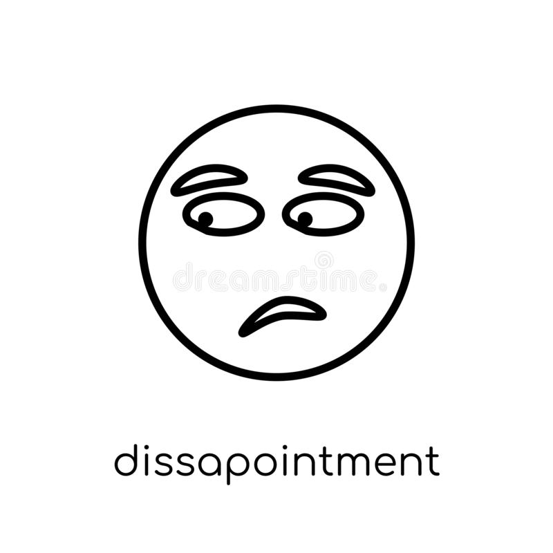 Dissapointment emoji icon from Emoji collection. royalty free illustration