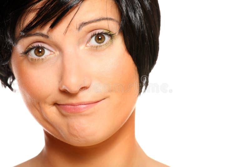 Dissatisfied woman stock photos