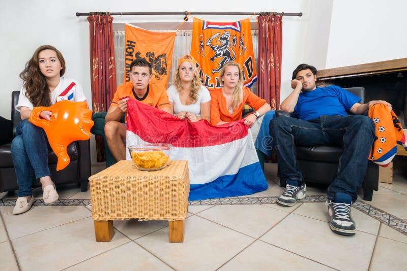 Dissillusioned sportów Holenderscy fan obrazy royalty free
