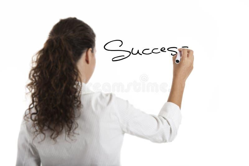 Dissipare il successo di parola fotografie stock