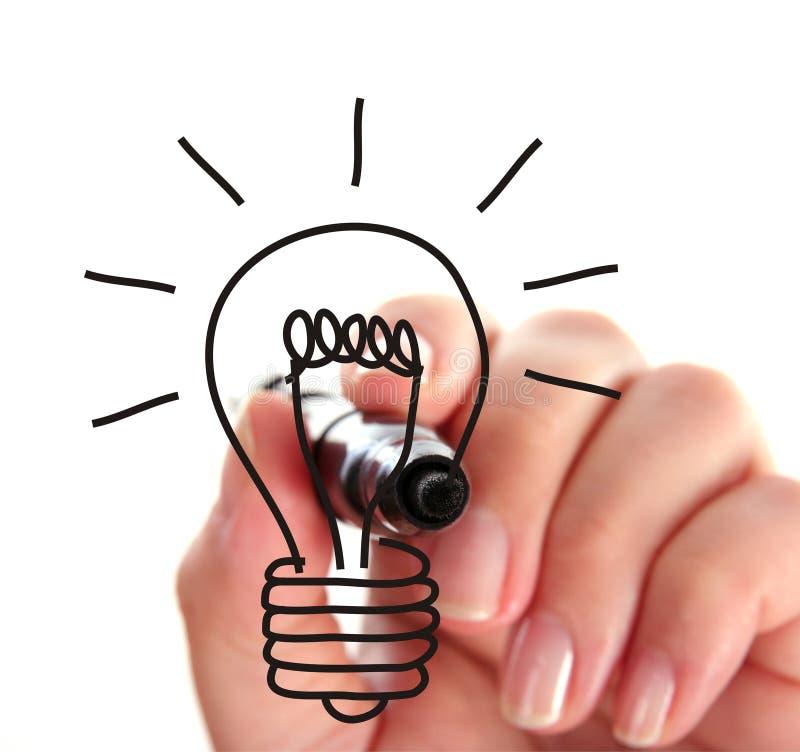 Dissipare una lampadina fotografie stock libere da diritti