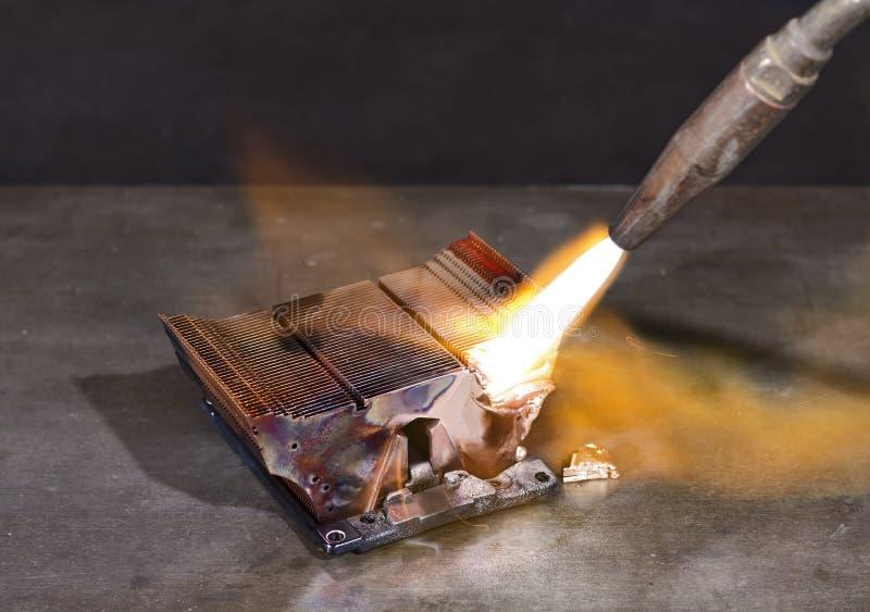 Dissipatore di calore di fusione fotografia stock libera da diritti