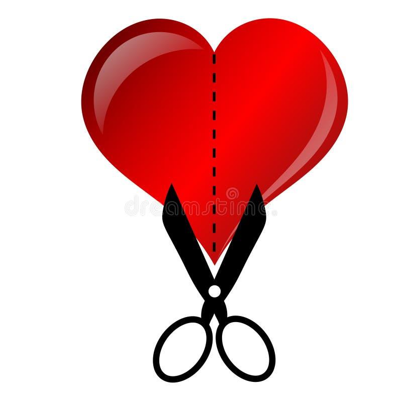 Dissolution d'amour illustration libre de droits