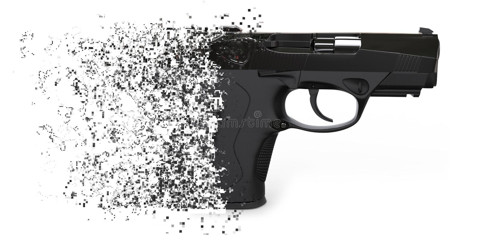 Dissolution du pistolet semi automatique illustration libre de droits