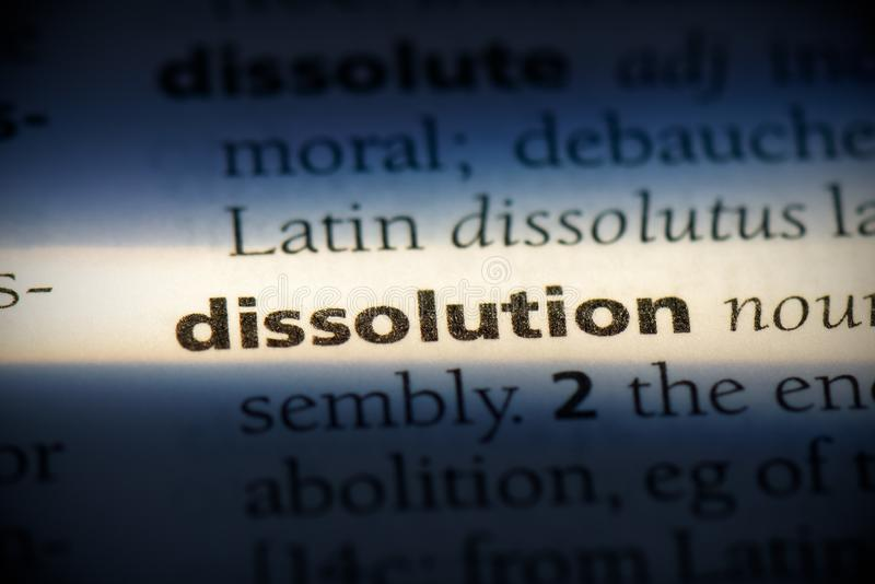 Dissolution royalty free stock photography