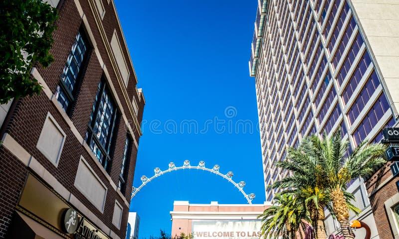 Dissoluto, la ruota di ferris famosa Attrazioni turistiche di Las Vegas, Nevada fotografia stock libera da diritti