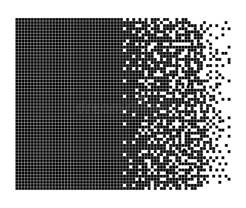Dissolved filled square vector illustration