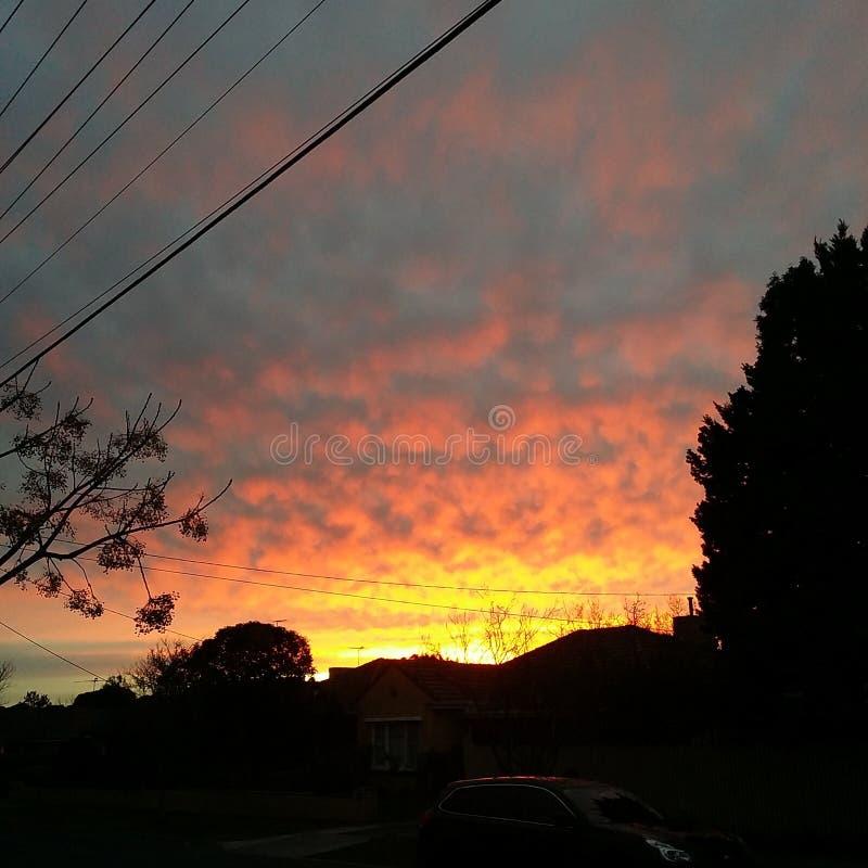 Dissolvenza di tramonto immagini stock libere da diritti