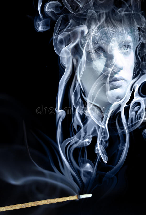 Dissolvido no fumo ilustração do vetor