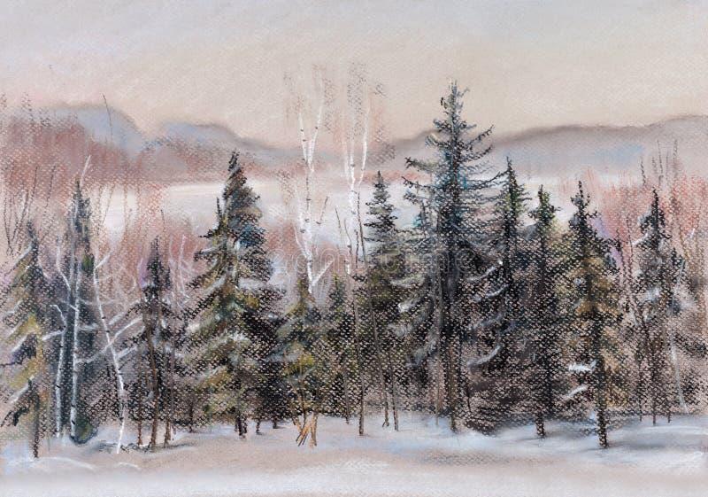Distâncias do inverno ilustração stock