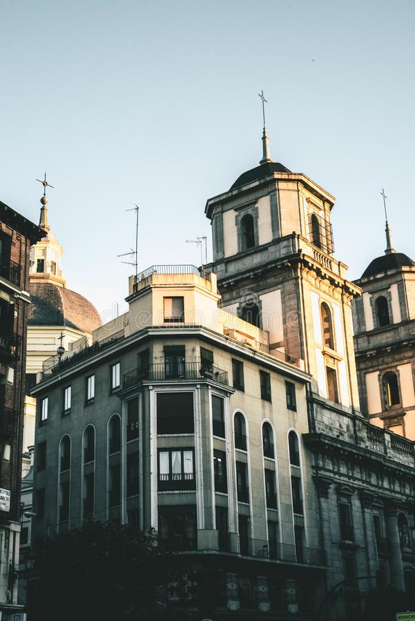 In Distance Beige Cathedral royalty free stock image