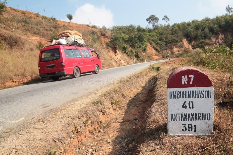 Distance d'Antananarivo photos libres de droits