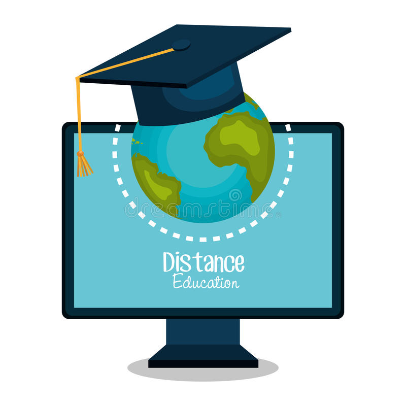 distance education design stock illustration