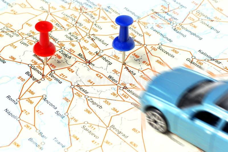 Distance entre les villes photo stock