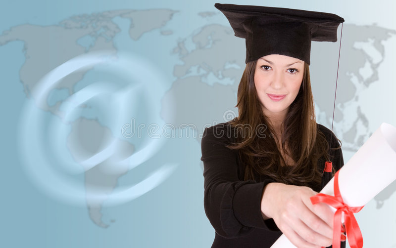Download Distance learning stock image. Image of global, smiling - 6048417