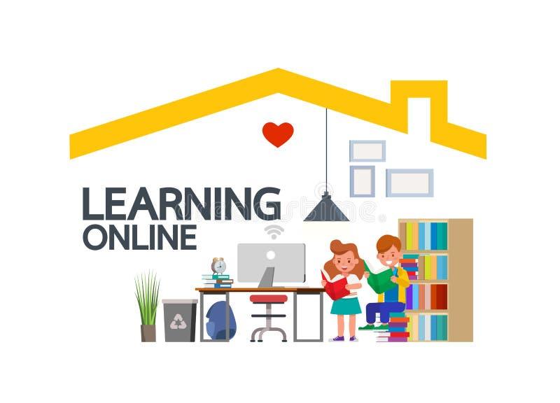 Kid Learning Online Stock Illustrations – 1,062 Kid Learning ...