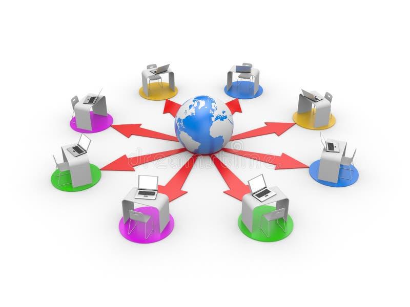 Download Distance Or Online Training Concept Stock Illustration - Image: 12781008